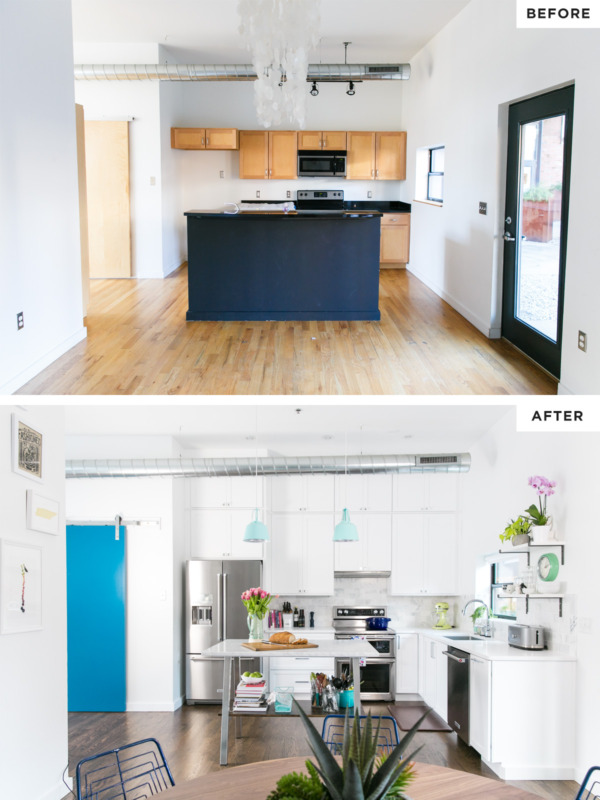 Townhouse Remodel: Kitchen Before/After