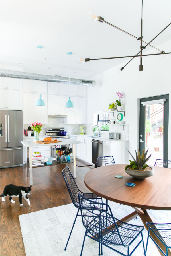 Townhouse Kitchen Remodel: Kitchen And Dining Space.