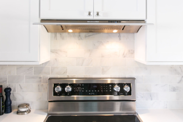 Townhouse Kitchen Remodel: KitchenAid Slide Out Range Hood