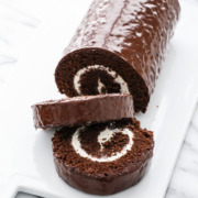 Giant Homemade Swiss Cake Roll