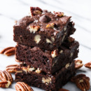 Ultry Fudgy, Sweet & Salty, Bourbon Pecan Brownies