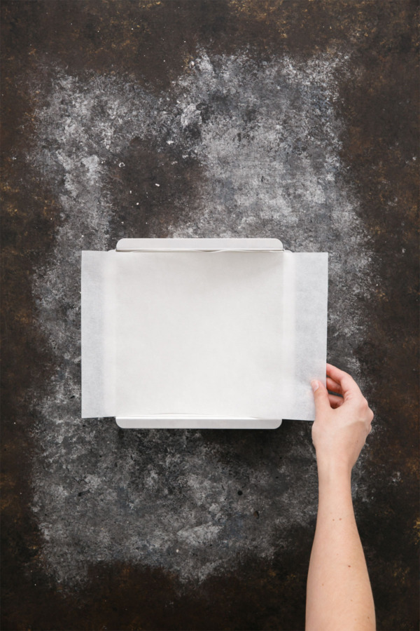 Kitchen Basics Lining A Square Pan With Parchment Paper