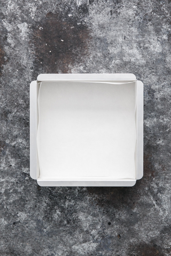 Lining a Square Pan with Parchment Paper - Bikini Method