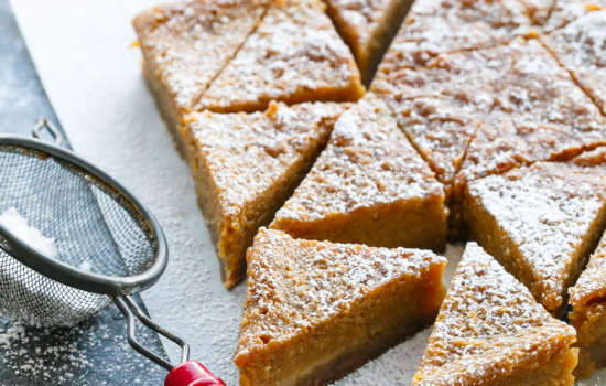 Pumpkin Chess Pie Bars