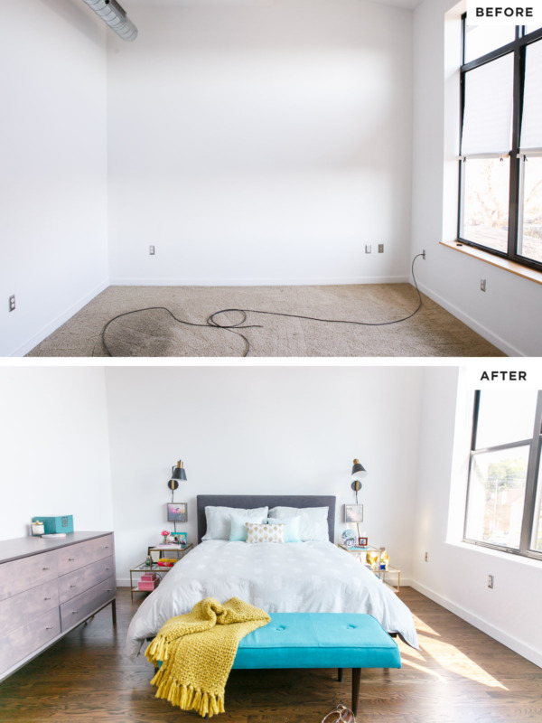 Townhouse Renovation - Master Bedroom Before/After