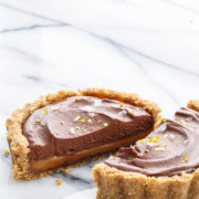 Salted Dark Chocolate and Dulce de Leche Tartlet Recipe - WOAH.