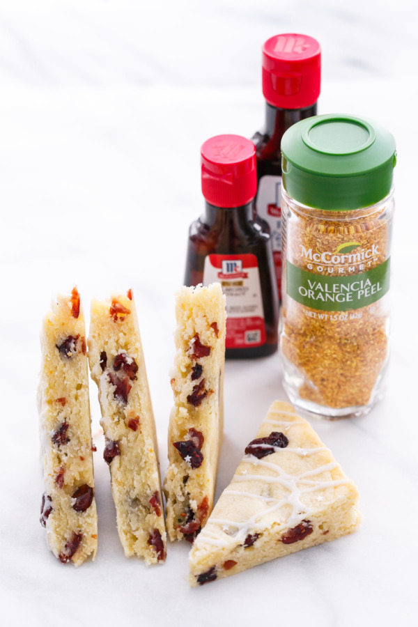 Glazed Cranberry Orange Almond Shortbread Bars for McCormick