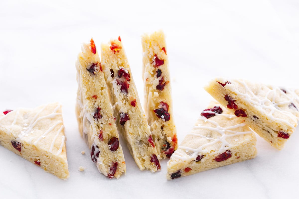 Cranberry Almond Shortbread Bars