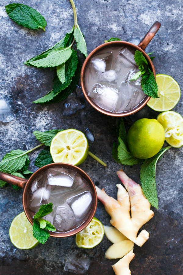 """Fancy"" Moscow Mule Recipe, made with homemade ginger beer concentrate"