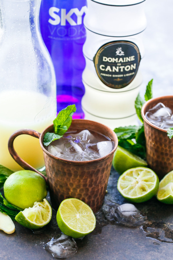 """Fancy"" Moscow Mule Recipe, made with homemade ginger beer concentrate and ginger liqueur"