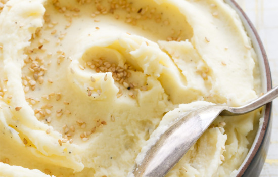 Creamiest Toasted Sesame Mashed Potatoes Recipe