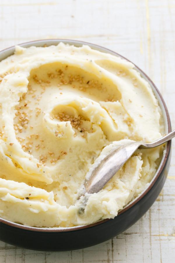 Creamiest Toasted Sesame Mashed Potatoes Recipe