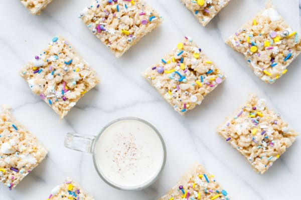 Eggnog Rice Krispie Treats