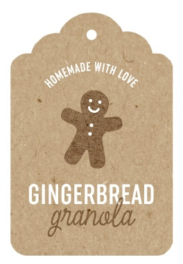 Printable Gingerbread Holiday Gift Tags