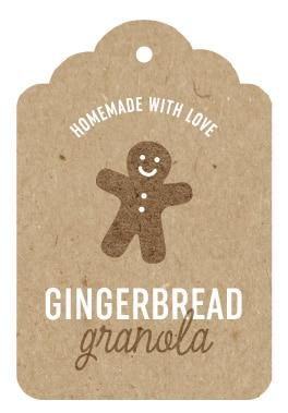 Printable Gingerbread Holiday Gift Tags