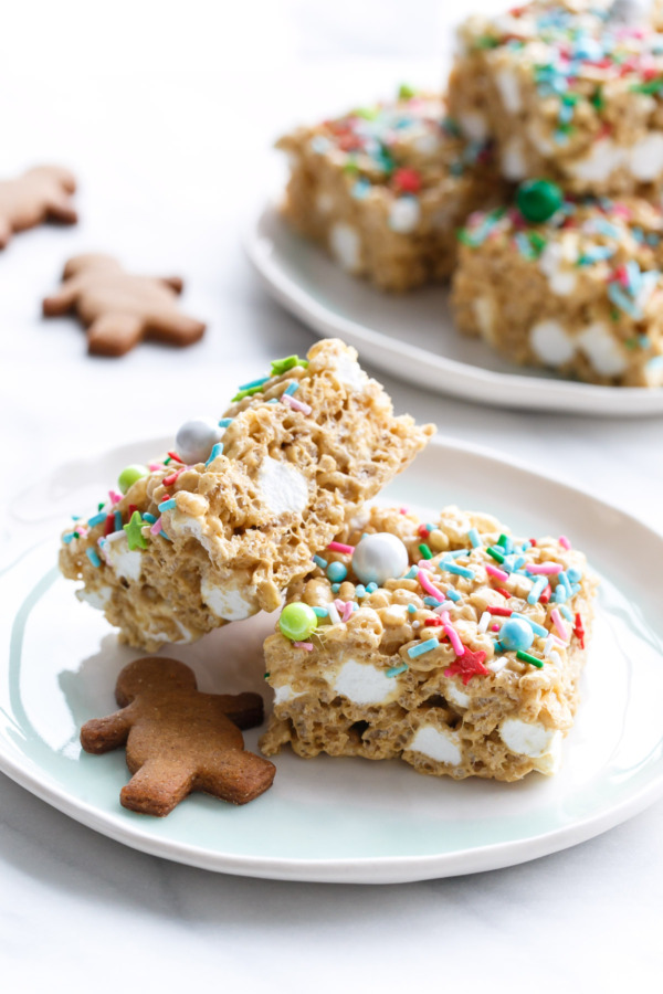 Gingerbread Rice Krispie Treats Love And Olive Oil