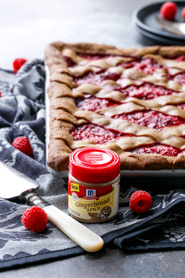 Raspberry Gingerbread Slab Pie