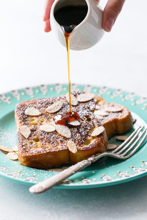 Horchata French Toast with Cinnamon Sugar and Toasted Almonds