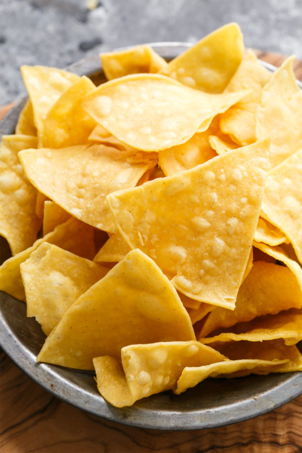 Corn Tortilla Chips for Homemade Queso Recipe