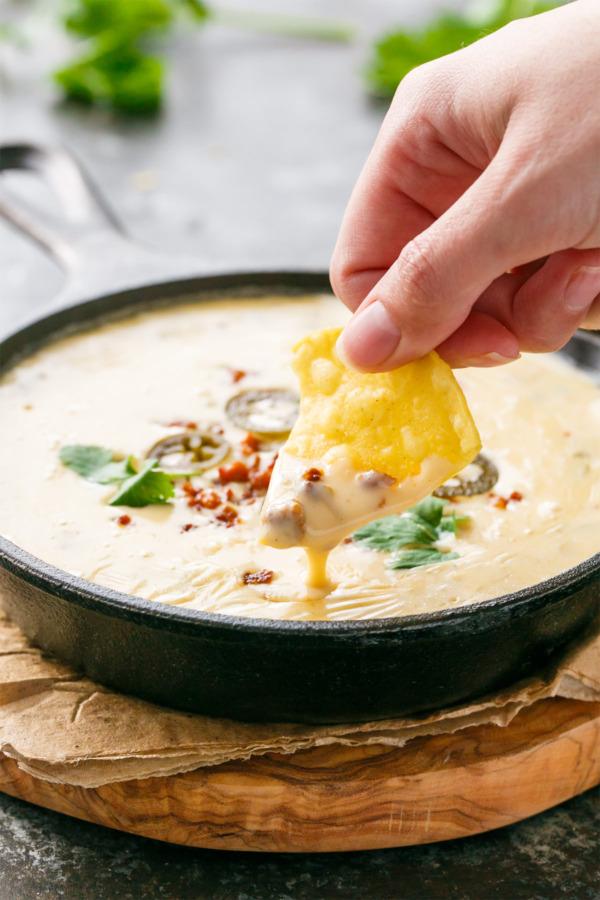 Creamy Queso Blanco with Spicy Chorizo
