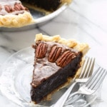 Dark Chocolate Fudge Pecan Pie