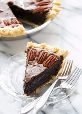 Dark Chocolate Fudge Pecan Pie