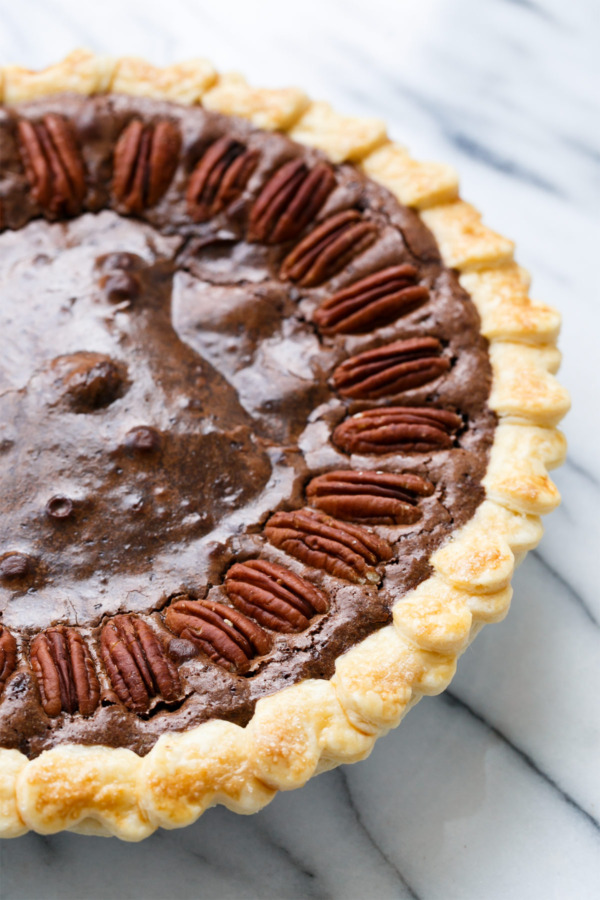 Pecan Dark Chocolate Fudge Pie