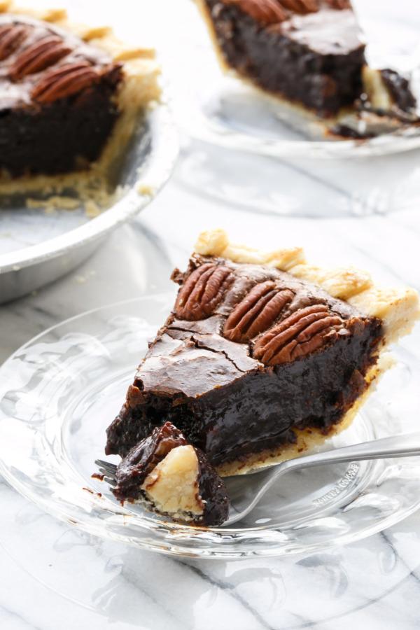 Rich and Gooey Chocolate Fudge Pecan Pie