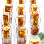 French Toast & Maple Syrup Shooters - Brunch party appetizer recipe