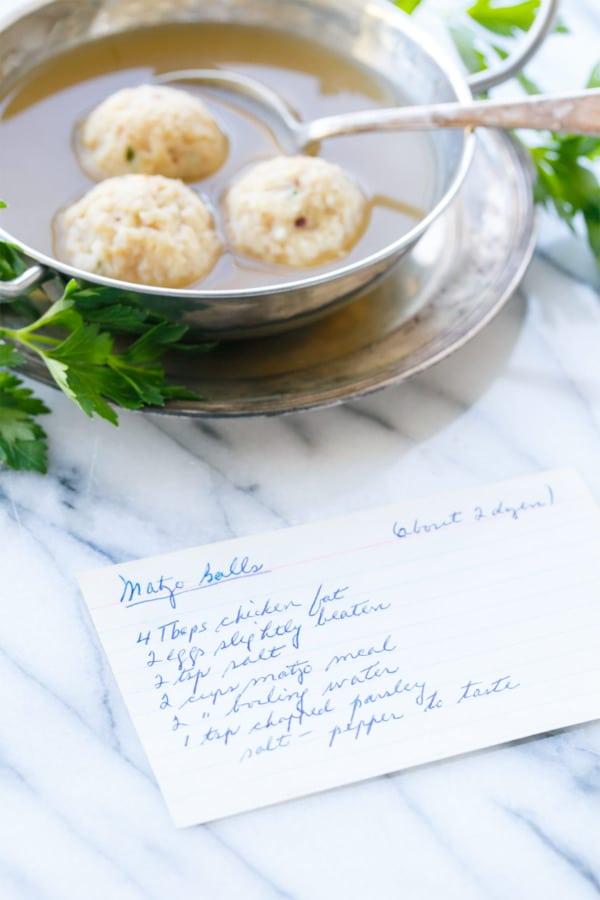 Traditional Matzo Ball Soup made using my grandmother's recipe