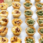 Pesto & Chorizo Mini Quiche Bites with Phyllo Crust