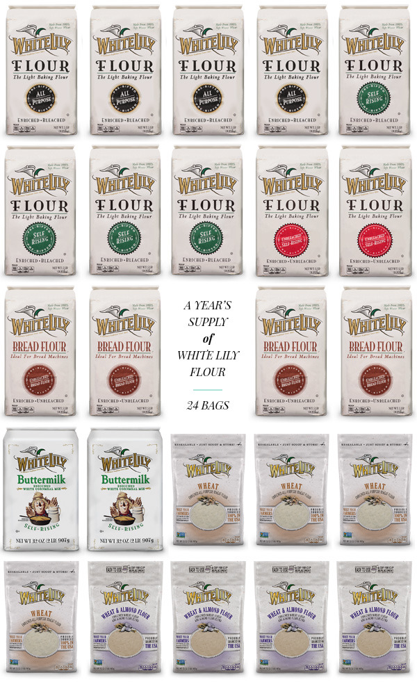 ENTER TO WIN a Year's Supply of White Lily Flour (a $160 value!)