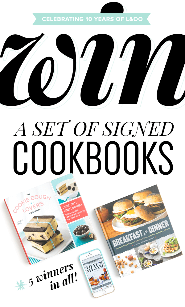 Enter to win a set of signed cookbooks - 5 winners in all!