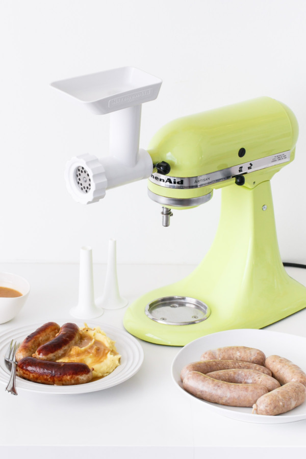 Using the KitchenAid® Meat Grinder Attachment to make homemade chicken sausages