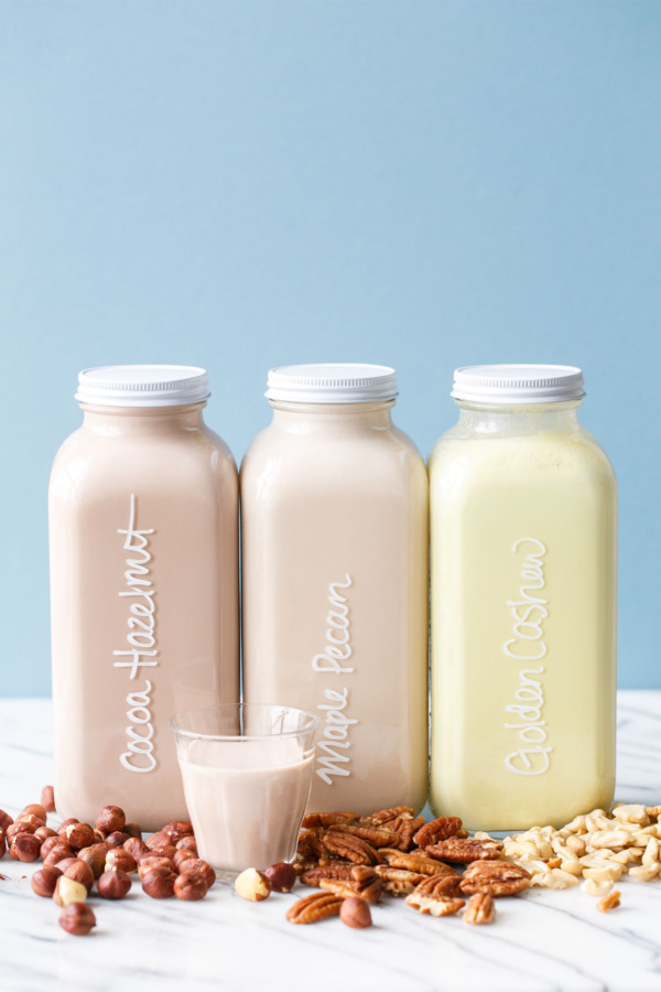 Homemade Nut Milk Recipe - 3 Flavor ideas