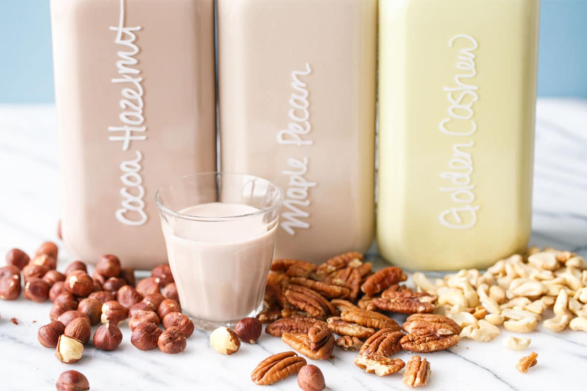 Homemade Nut Milk + Fun Flavor Ideas!
