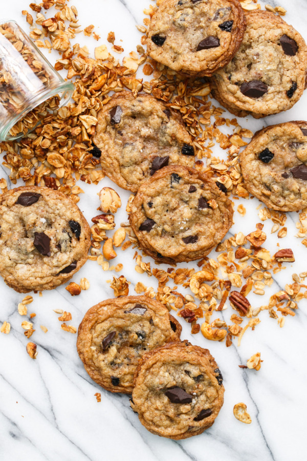 Crunchy and Chewy Granola Chocolate Chip Cookie Recipe