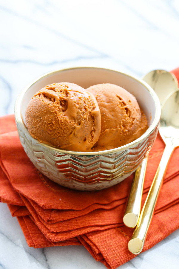 Thai Tea Ice Cream Recipe made with sweetened condensed milk
