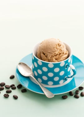Vietnamese Coffee Ice Cream made with Decaf coffee for the perfect late-night snack!