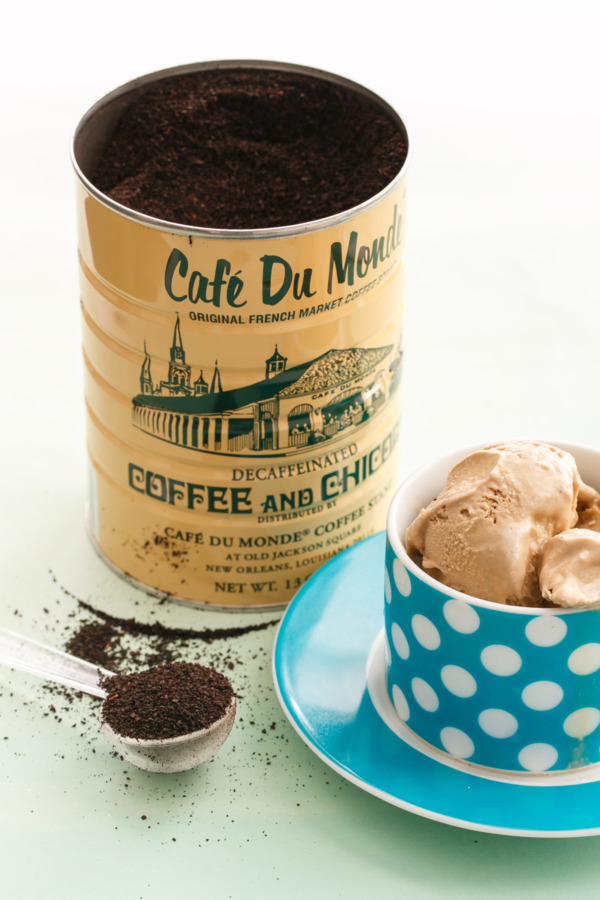 Decaf Chicory Coffee and Sweetened Condensed Milk are the secret ingredients in this Vietnamese Coffee Ice Cream recipe
