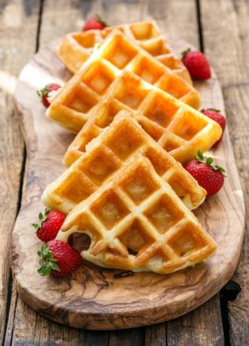 Donut-Glazed Yeasted Belgian Waffle Recipe