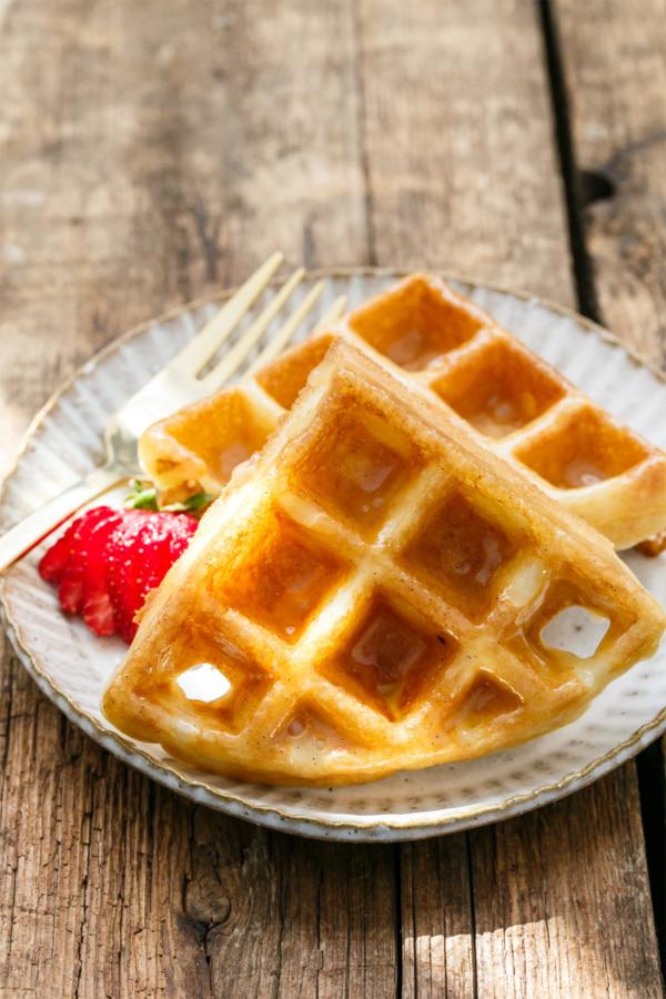 Donut-Glazed Yeast Raised Belgian Waffles