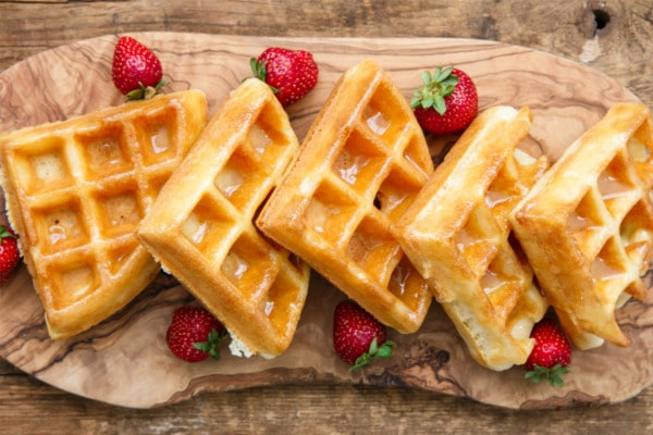 Donut-Glazed Yeasted Waffles