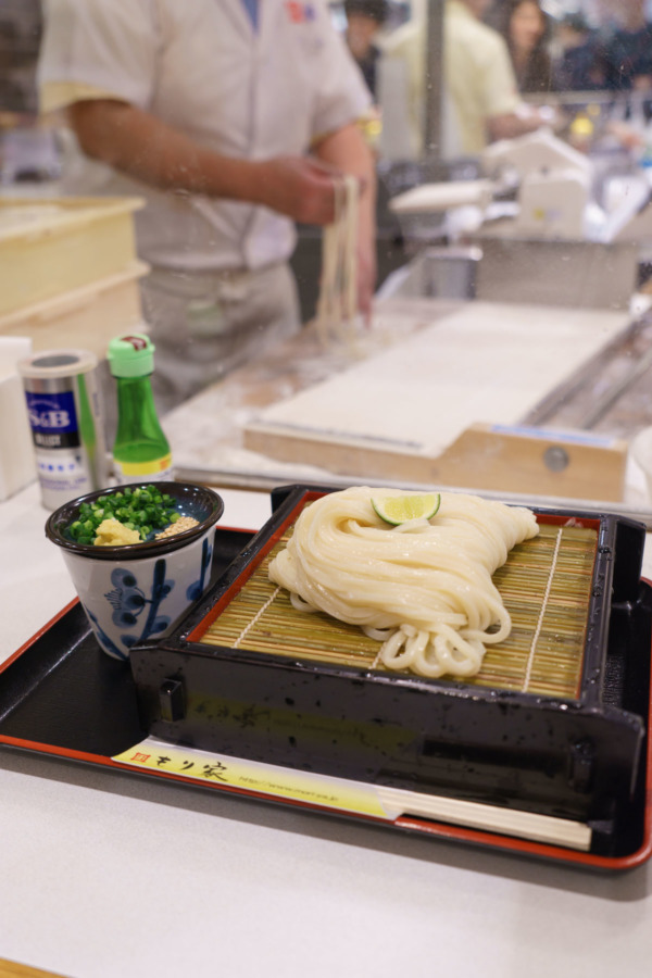 Handmade Udon at Isetan department store food court