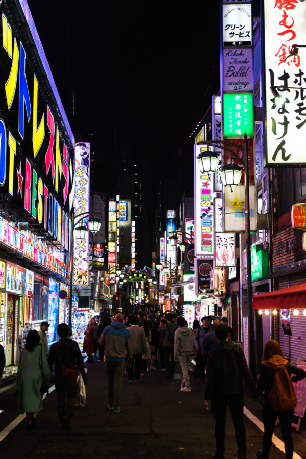 Kabukicho red light district in Shinjuku, Tokyo, Japan
