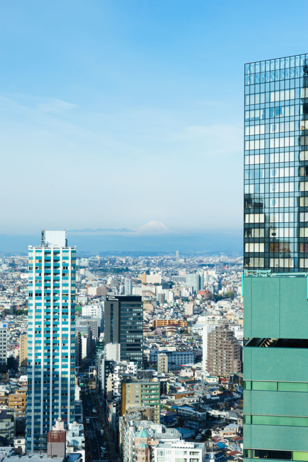Amazing Tokyo view from the 37th floor of the Hilton Tokyo hotel
