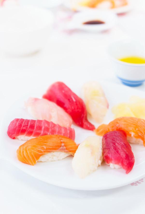 Sushi class at Nishiki Fish Market, Tokyo, Japan