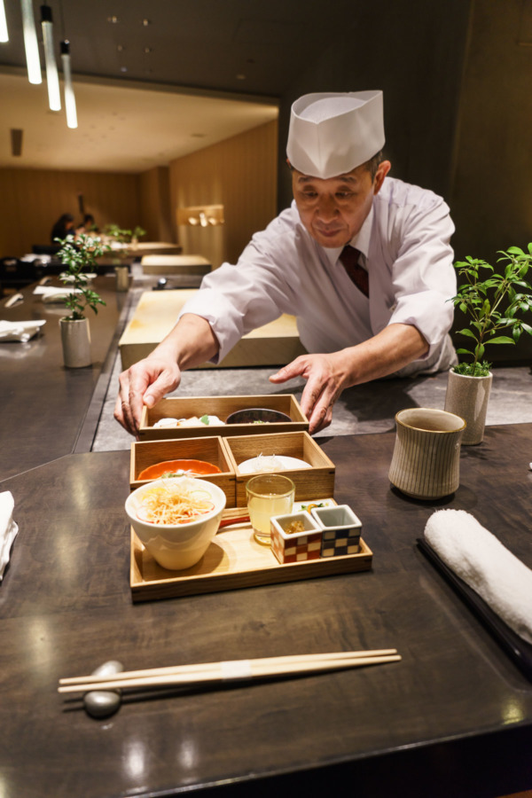 Traditional Japanese breakfast at Hilton Tokyo