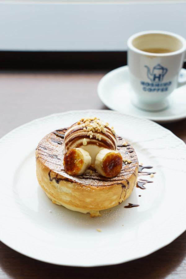 Puffy pancakes at Hoshino Coffee, Tokyo, Japan