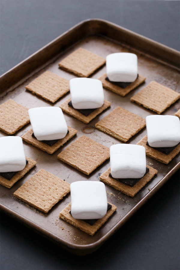Indoor S'Mores: How to make s'mores in the oven without a campfire.